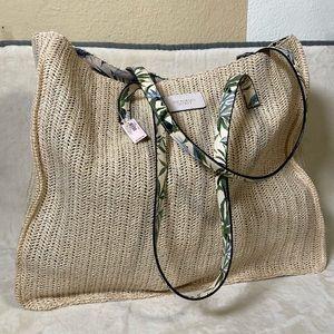NWT Victoria's Secret Natural Fiber Woven Tote Bag